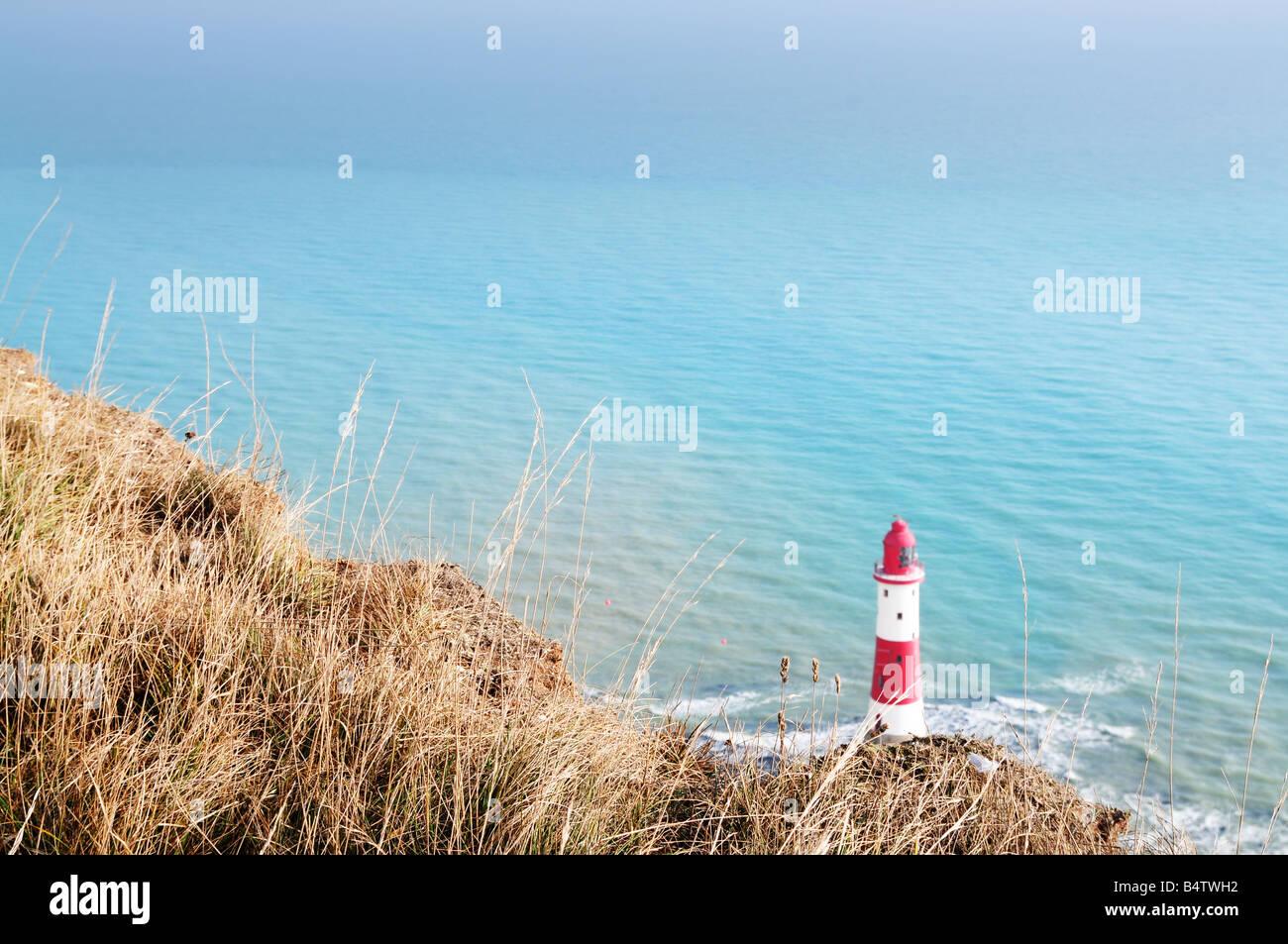 Light House à Beachy Head Photo Stock