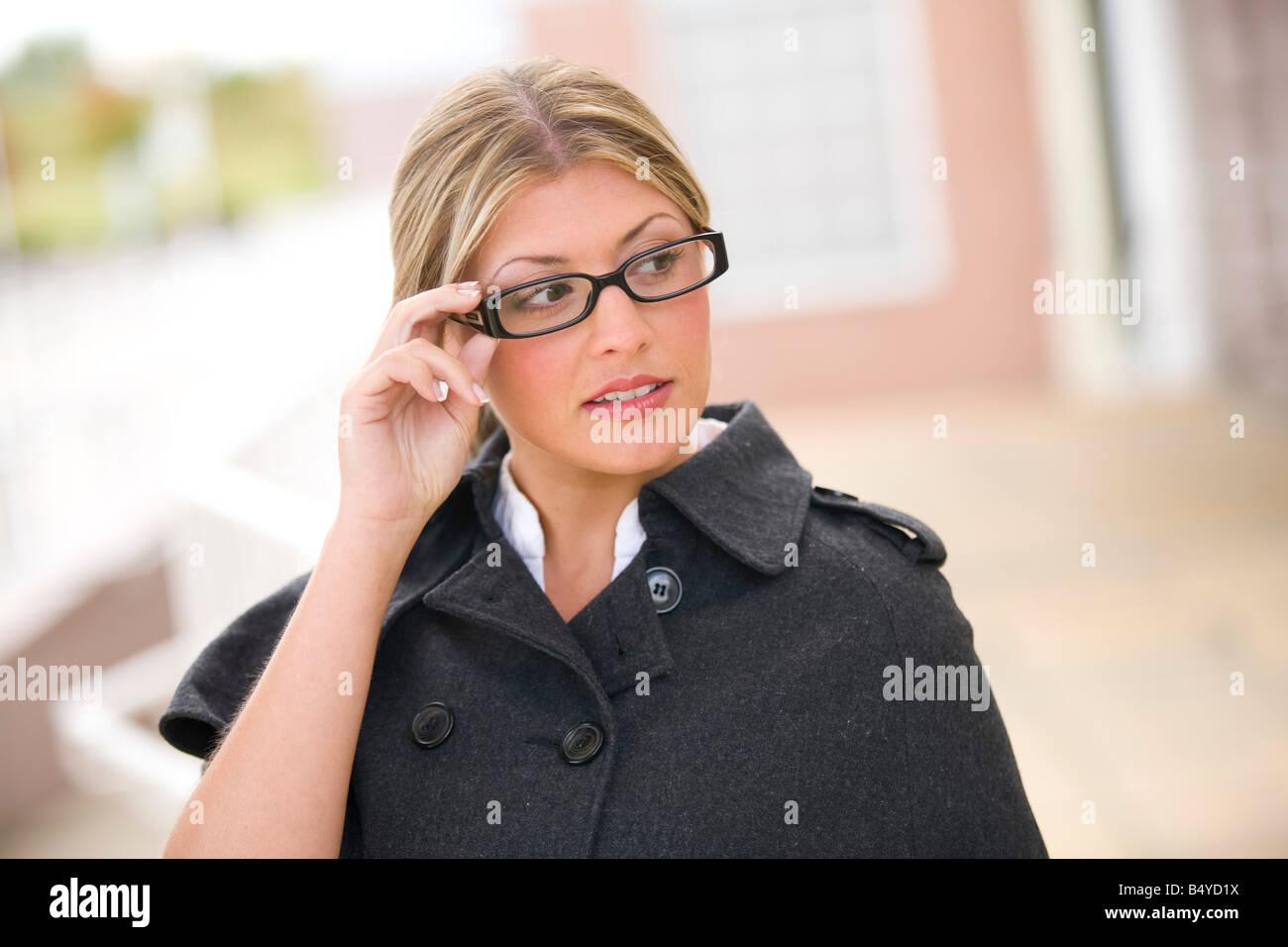 Business woman du verre Photo Stock