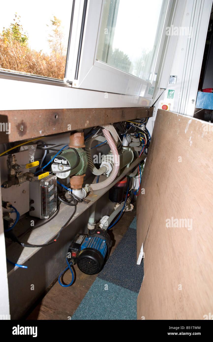 L'échangeur de chaleur utilisée pour refroidir les piles à hydrogène Photo Stock