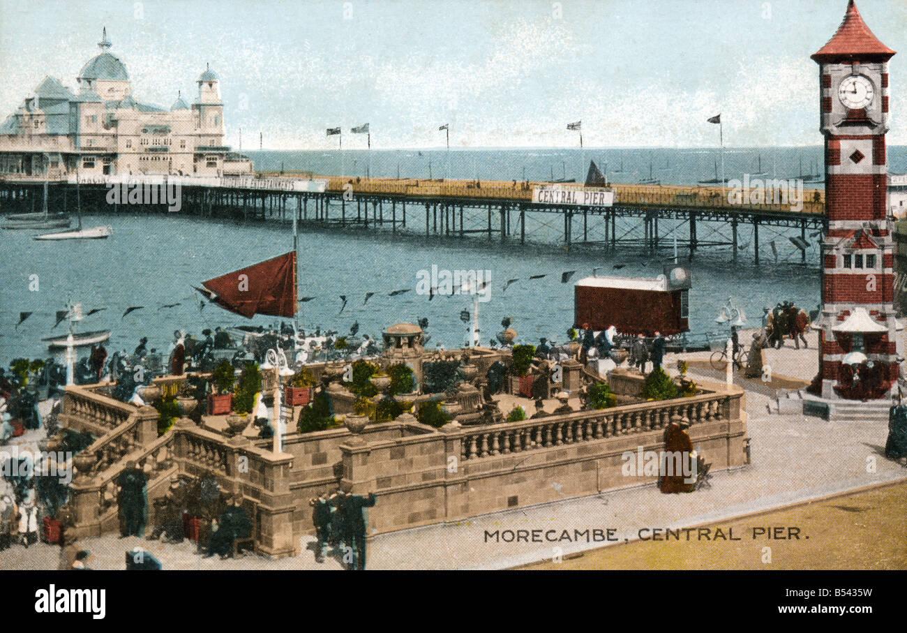 Old vintage seaside photo postcard EDITORIAL UTILISEZ UNIQUEMENT Photo Stock