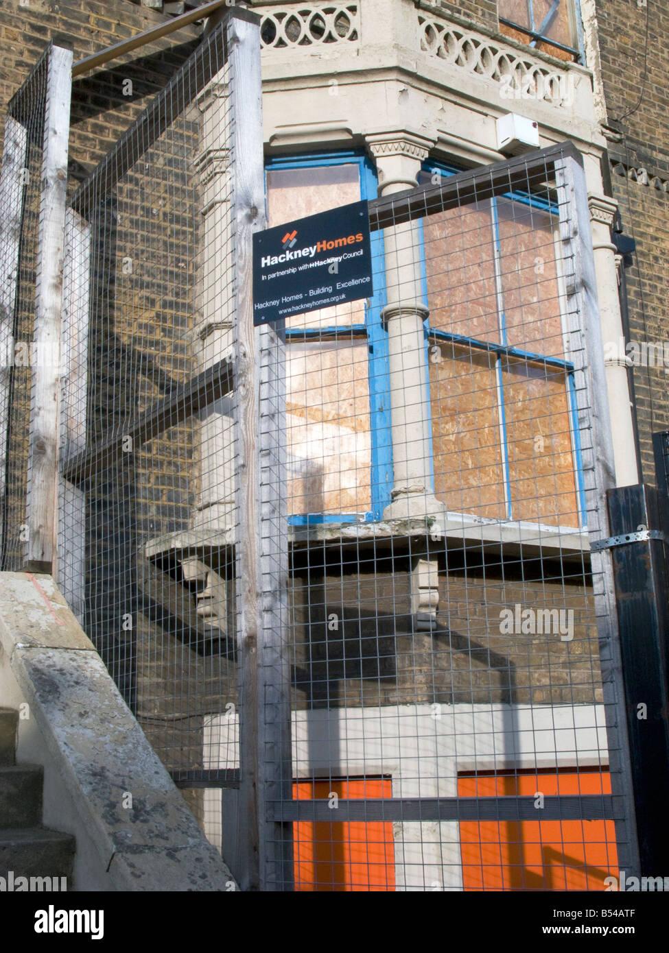 L'abandon de la chambre du conseil britannique abandonné à Hackney pour mettre en vente à l'entreprise Photo Stock