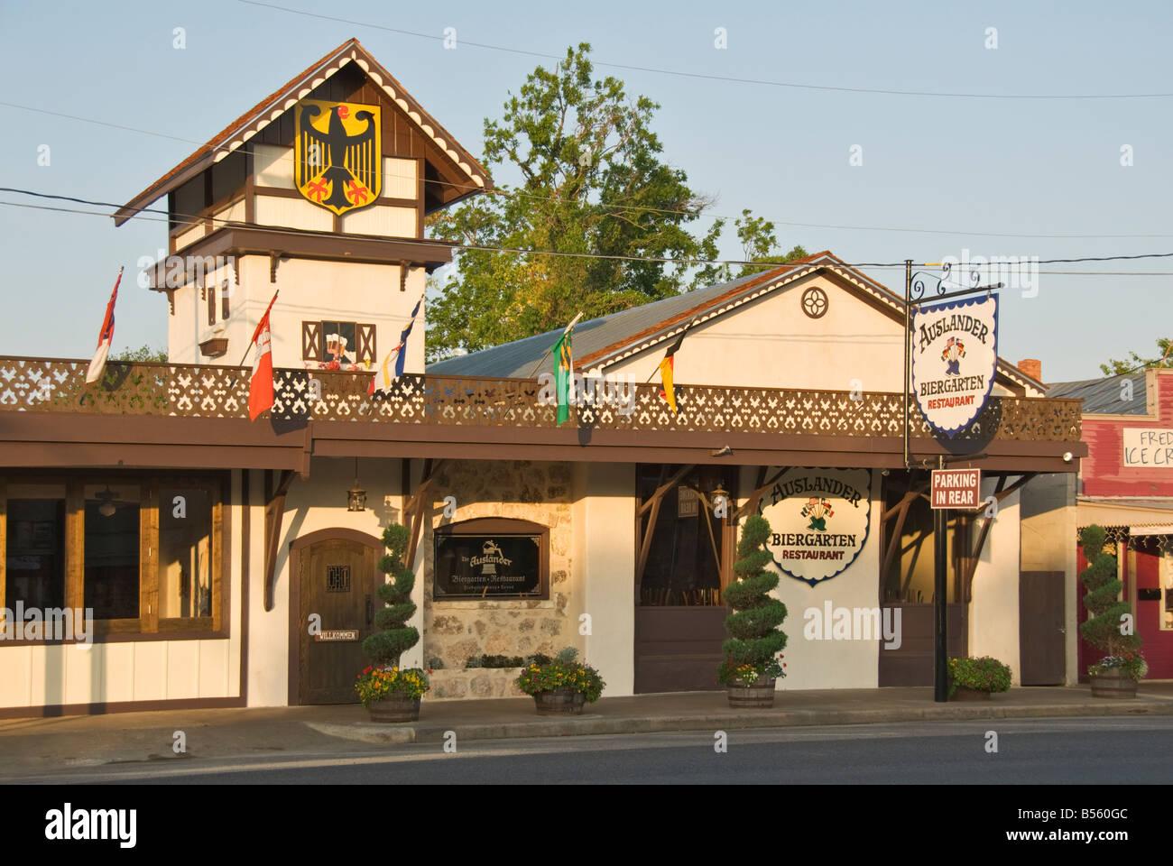 Texas Hill Country Fredericksburg Auslander Biergarten Restaurant beer garden Banque D'Images