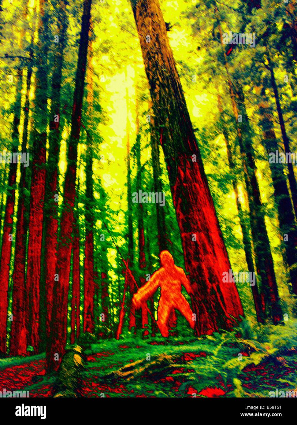 Image thermique de Bigfoot Photo Stock