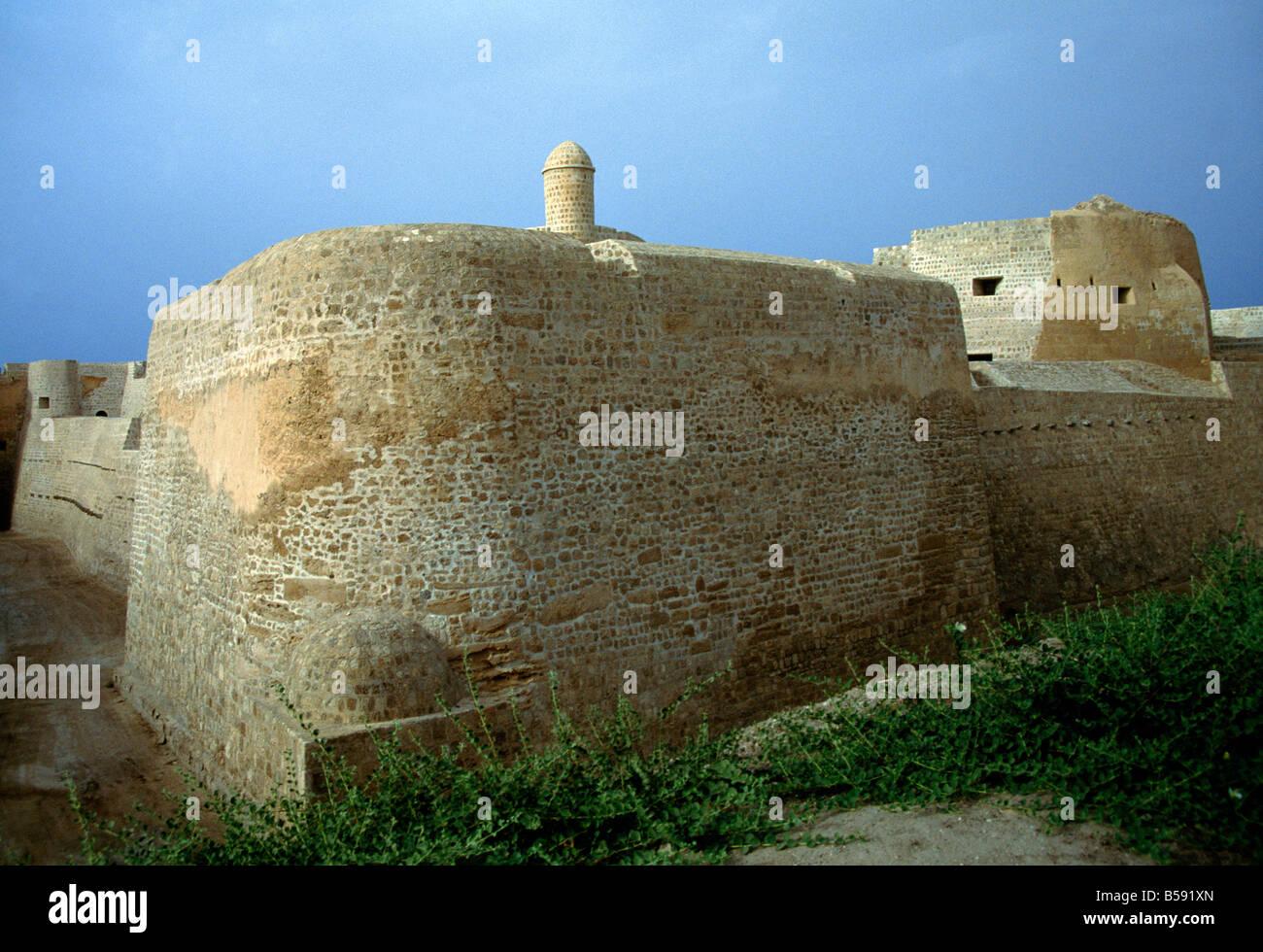 Le Fort de Bahreïn Delmon civilisations 2500bc Photo Stock