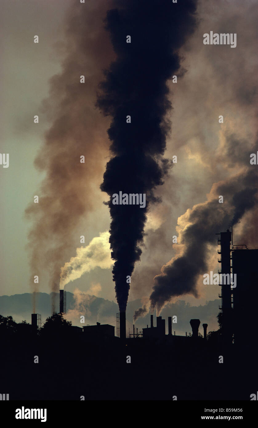La pollution, Chemie Linz, Autriche, Europe centrale Photo Stock