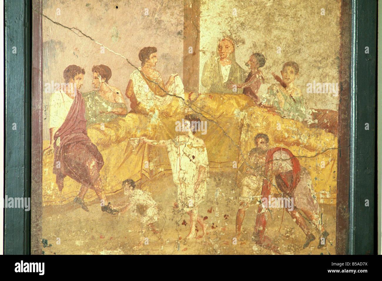 Peinture Murale De Pompéi En Campanie Italie W Rawlings
