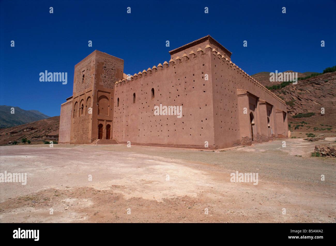 Mosquée du centre commercial d'étain à partir de 1153, Tizi-n-test pass, Maroc, Afrique du Nord, Photo Stock