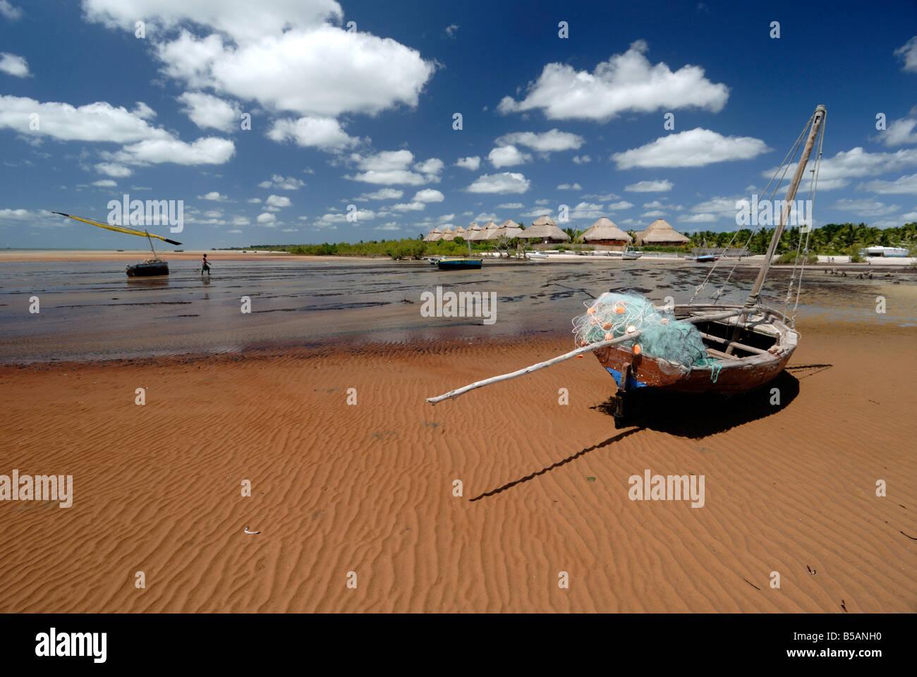 Resort, Vilanculo Beach, le Mozambique, l'Afrique de l'Est, l'Afrique Photo Stock