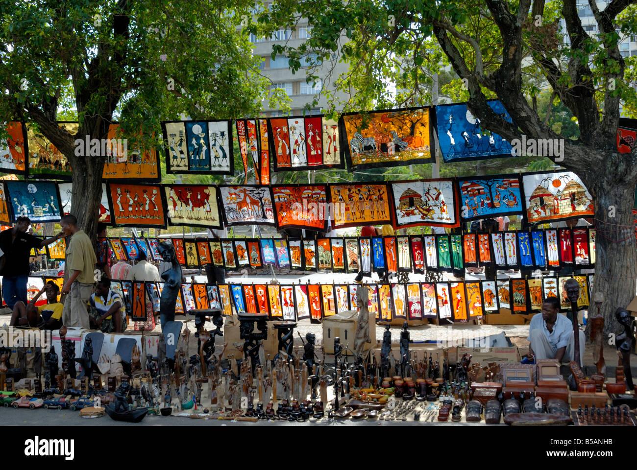 Marché artisanal de Maputo, Mozambique, Afrique de l'Est, l'Afrique Photo Stock