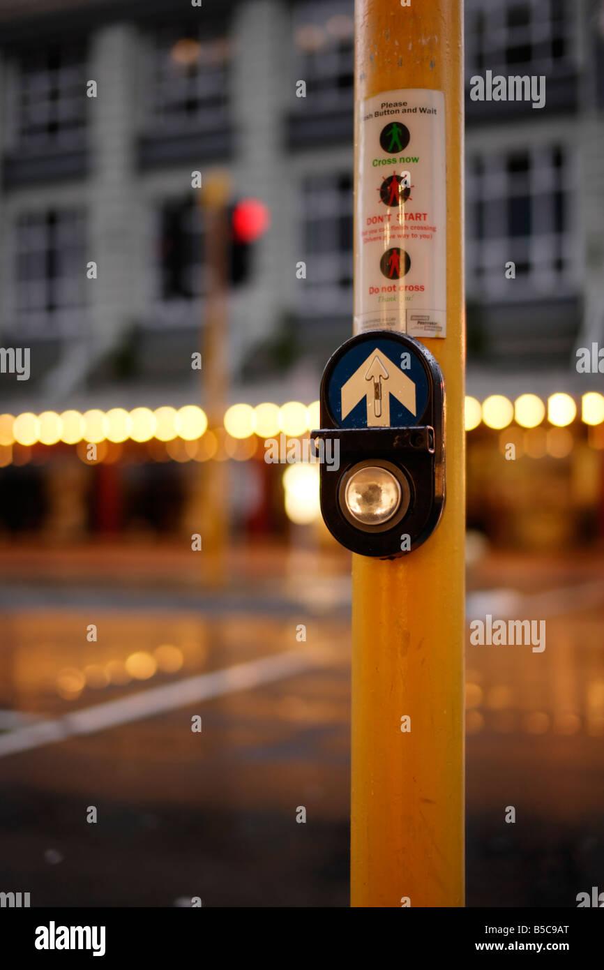Passage pour piétons Wellington New Zealand Banque D'Images