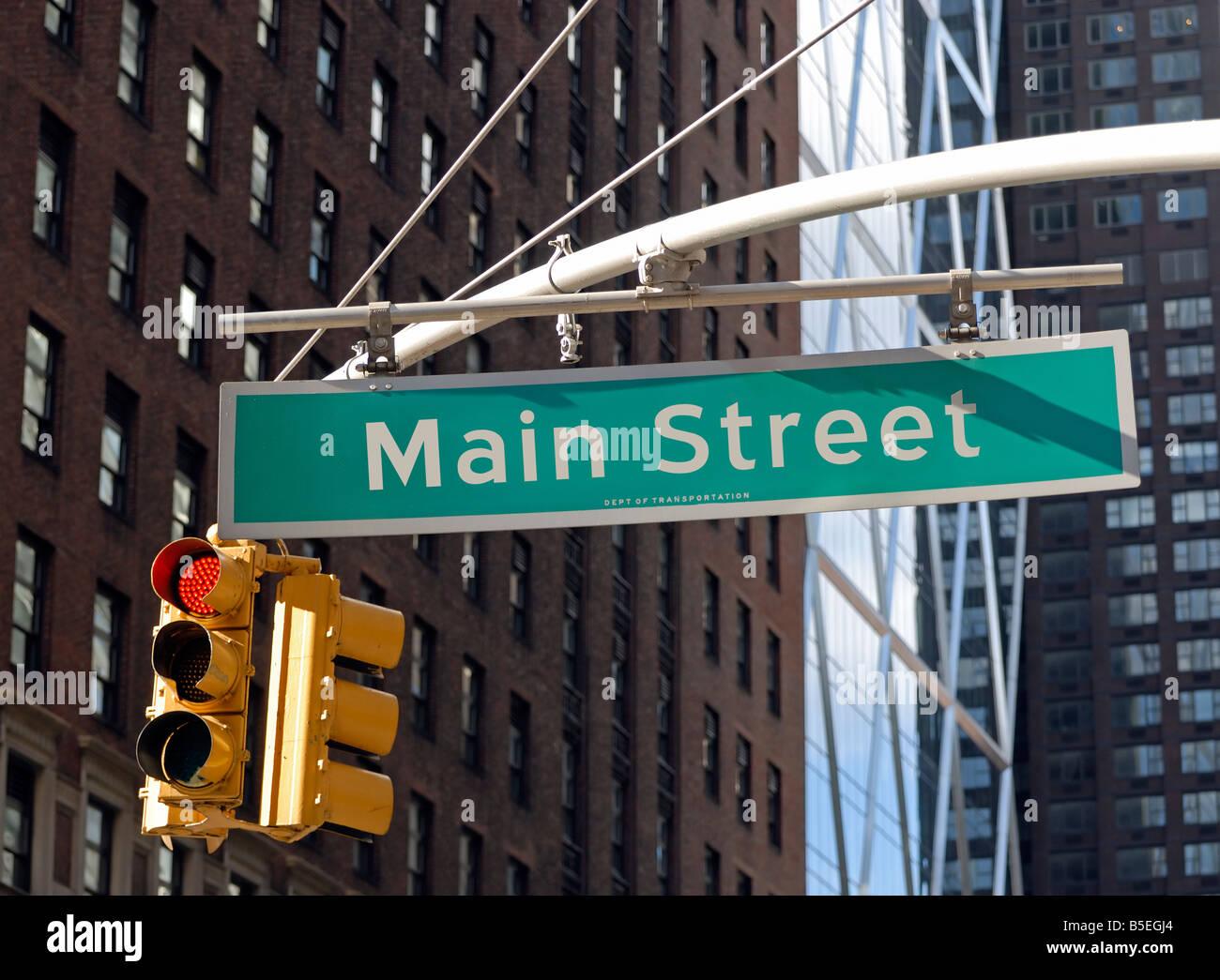 Main Street USA (par opposition à Wall Street) Photo Stock