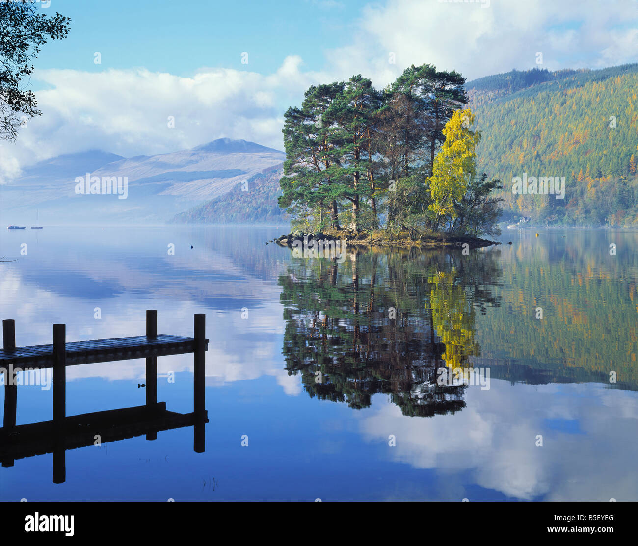 Go ECOSSE PERTH KINROSS LOCH TAY À KENMORE Photo Stock
