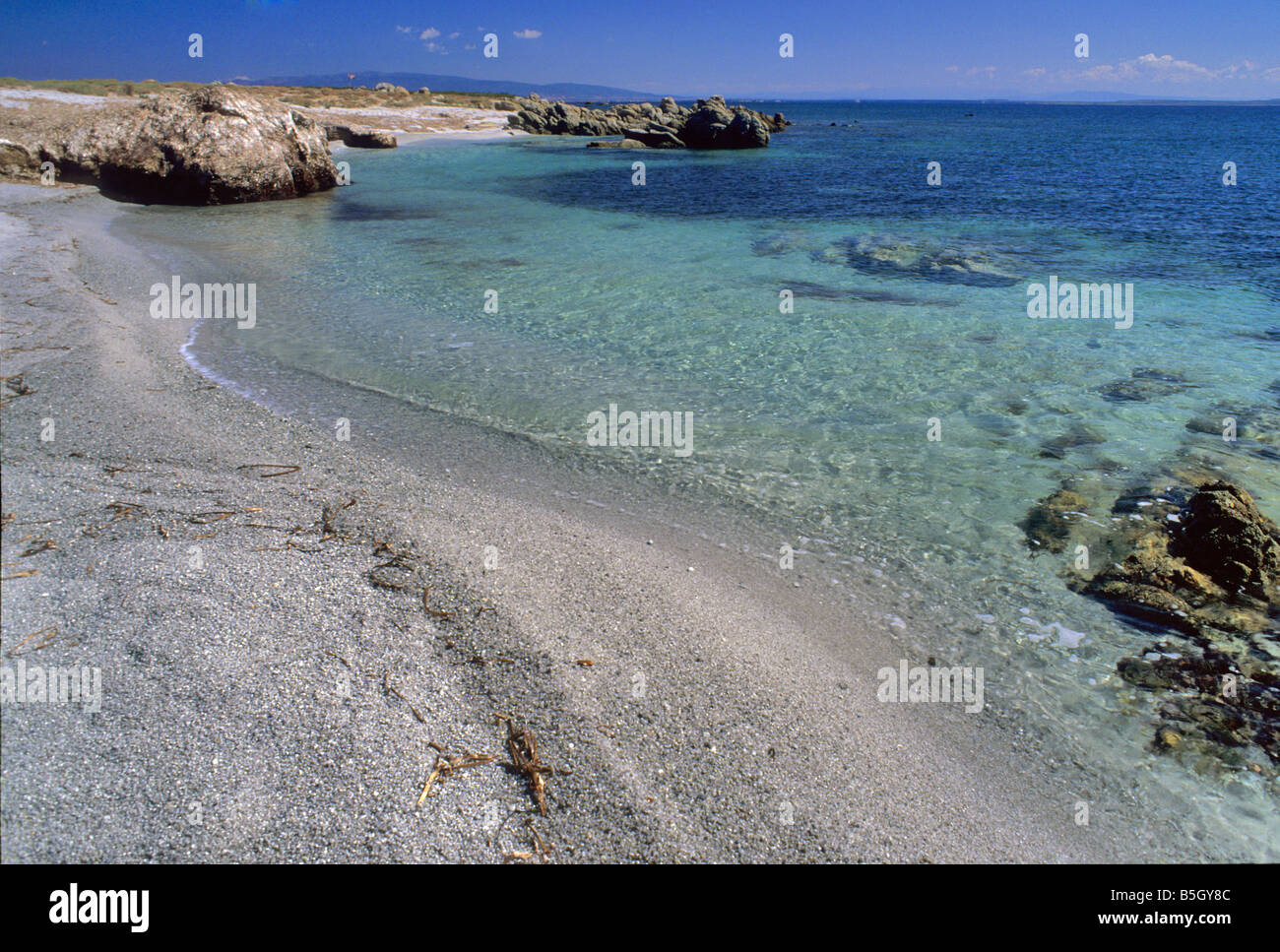 Parc de l'île de Mal di Ventre, Cagliari, Sardaigne, Italie Photo Stock