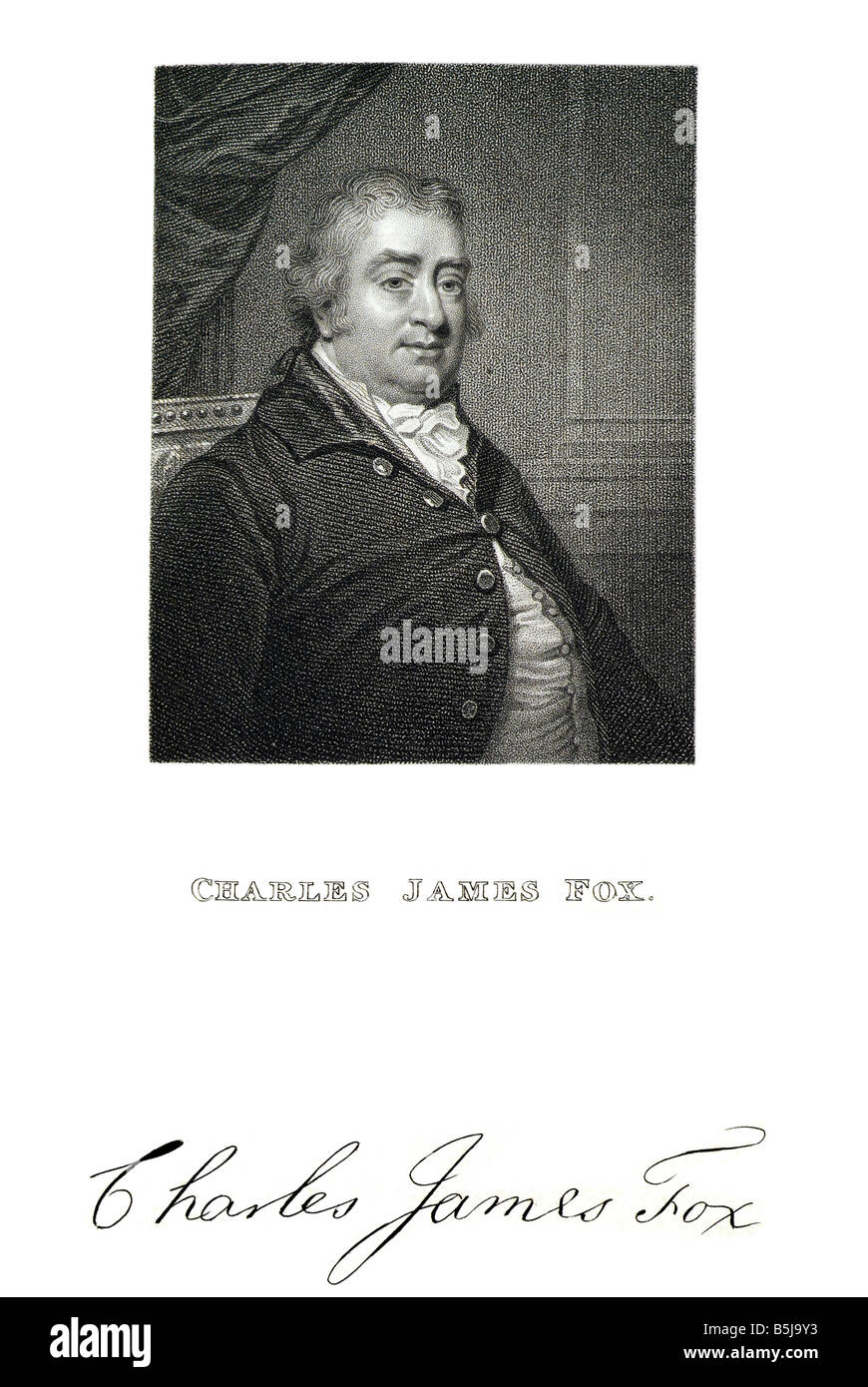 Charles James Fox Le Très Honorable Charles James Fox (24 janvier 1749 - 13 septembre 1806) était un éminent Photo Stock