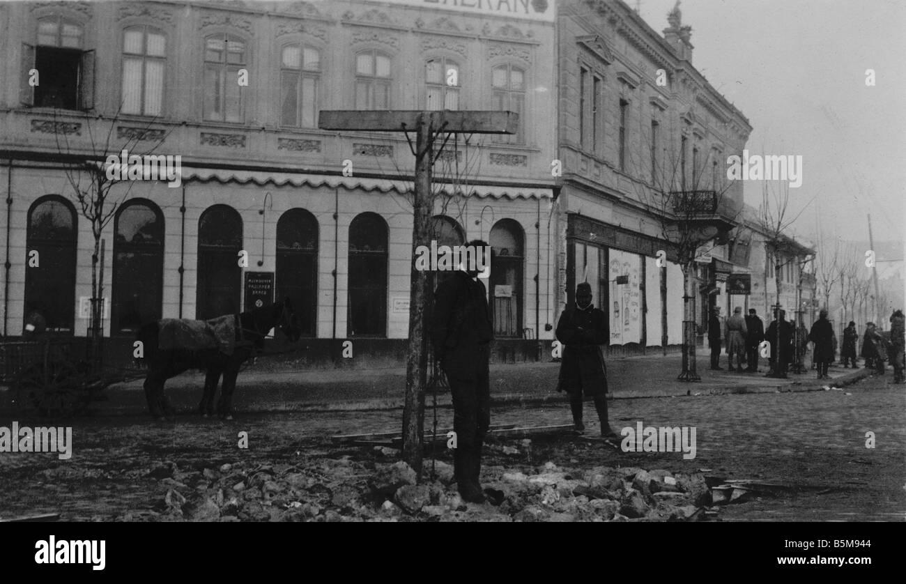 2 G55 O1 191614 civils pendus AVANT LA PREMIÈRE GUERRE MONDIALE est la Première Guerre mondiale Histoire Photo Stock