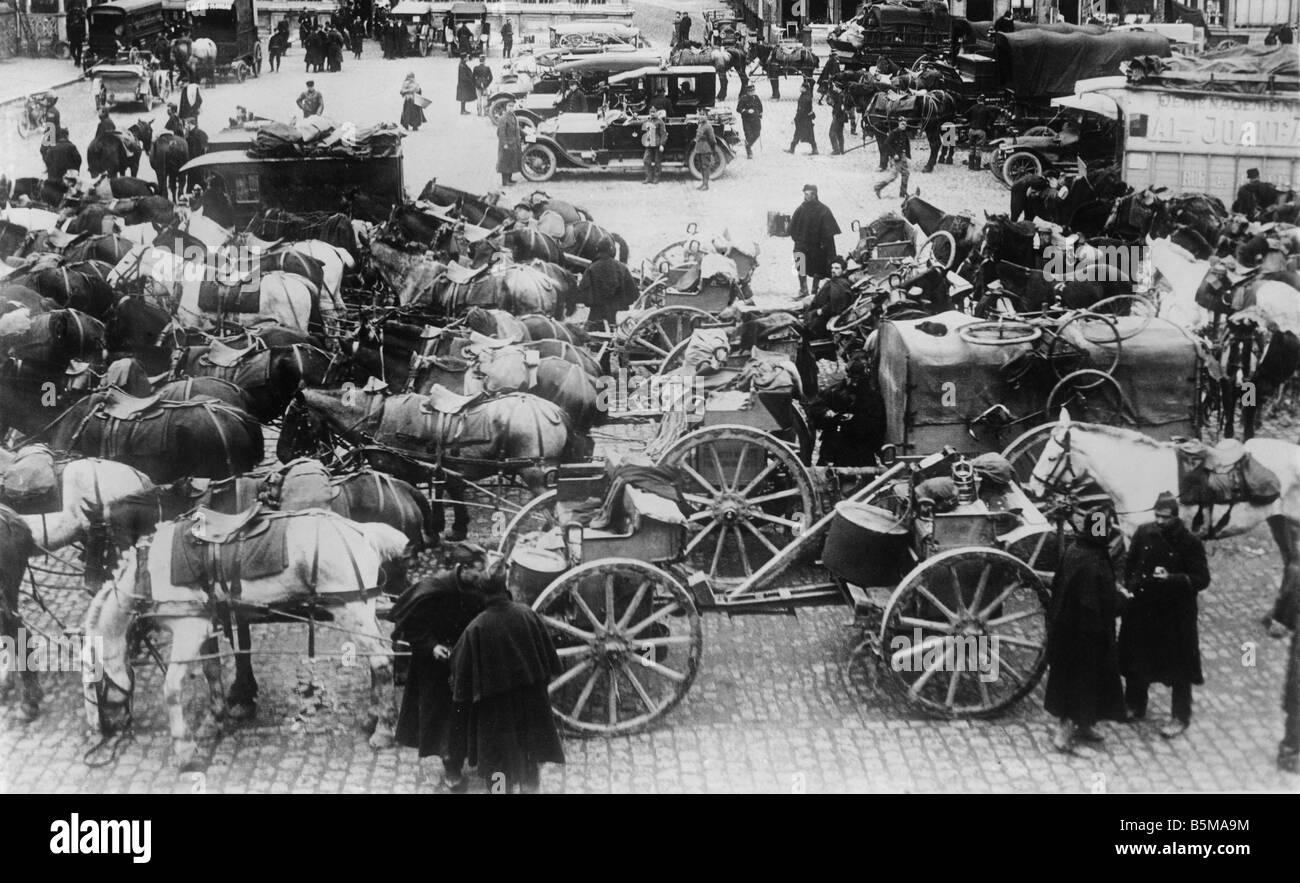 2 G55 W1 1914 20 Photo d'artillerie BELGE DE LA PREMIÈRE GUERRE MONDIALE Première Guerre mondiale Photo Stock