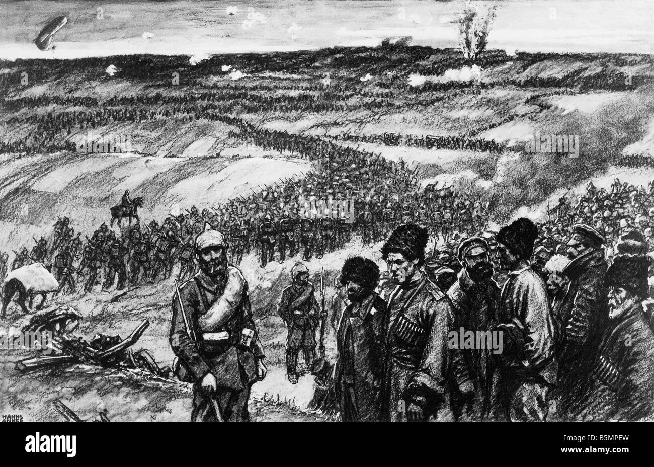 9 1914 826 A1 3 Bataille de Tannenberg Anker World War 1 Front de l'Est Bataille de Tannenberg Masuren la Prusse de l'est du 26 au 30 t Banque D'Images