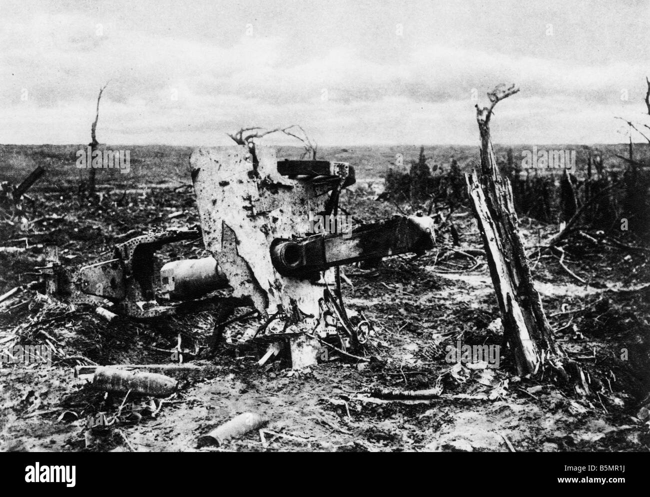 9 1916 915 A1 E en position d'artillerie Martinpuich 19161 1918 1914 La Seconde Guerre mondiale Bataille de Bad Berka Somme 23 Juin 26 Novembre 1916 Banque D'Images