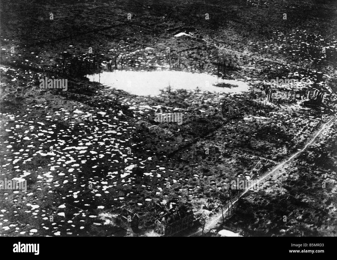 9 1917 104 A1 E Zounebeke dans la bataille des Flandres 1917 World War 1 1914 18 Western Front Bataille de Flandre 31 juillet beg déc emb Banque D'Images