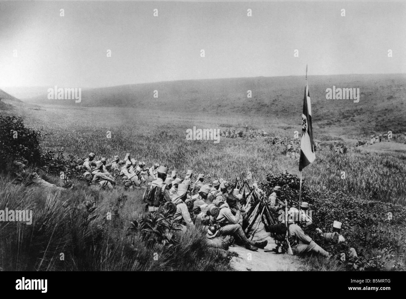 9AF 1914 0 0 A10 reste pour protectorat allemand de la première guerre mondiale troupes 1914 18 Guerre dans les colonies protectorat allemand au repos des troupes Banque D'Images
