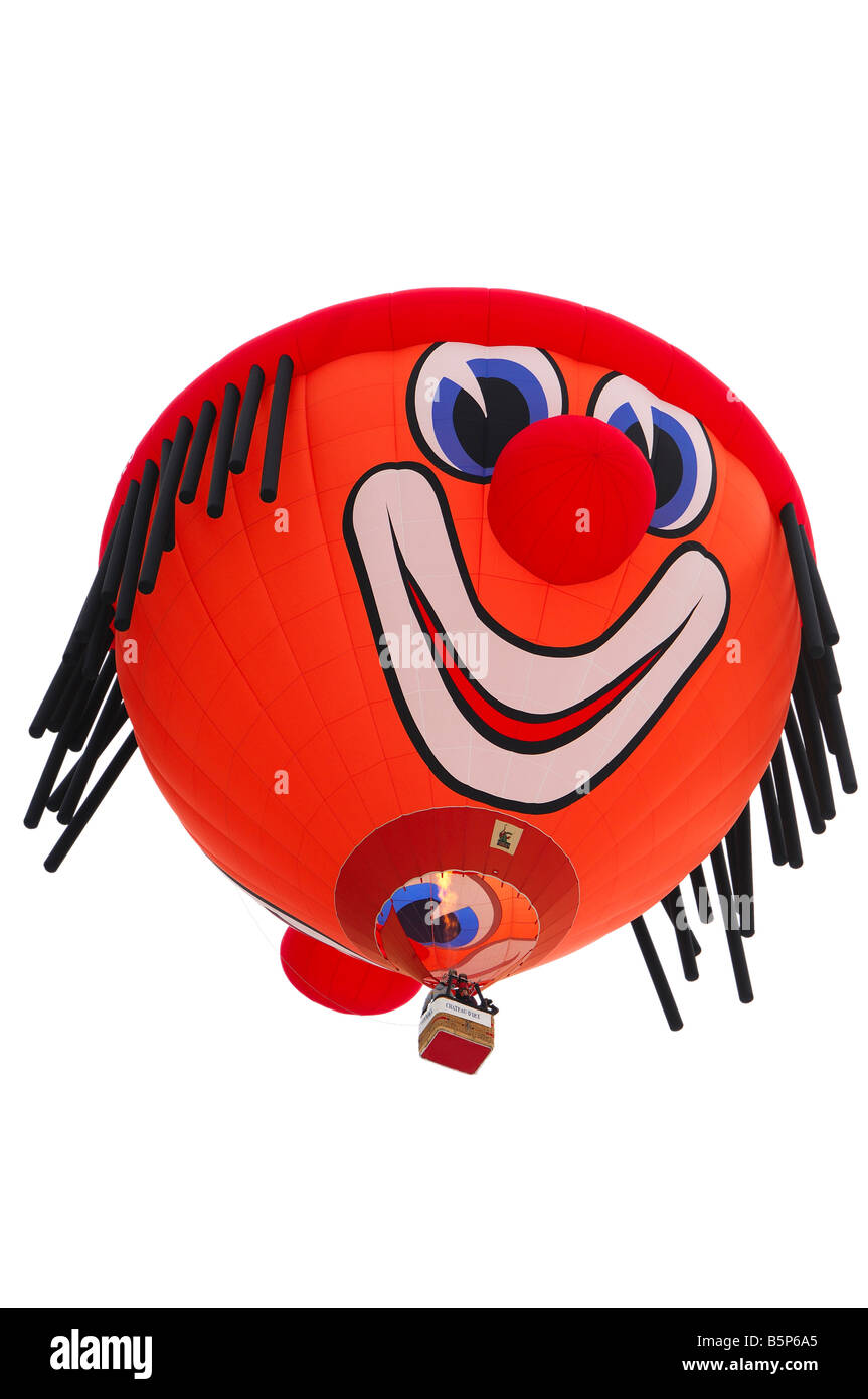 Ballon en forme de clown spécial d'Oleg Schroeder Fire Balloons Clown SS Banque D'Images