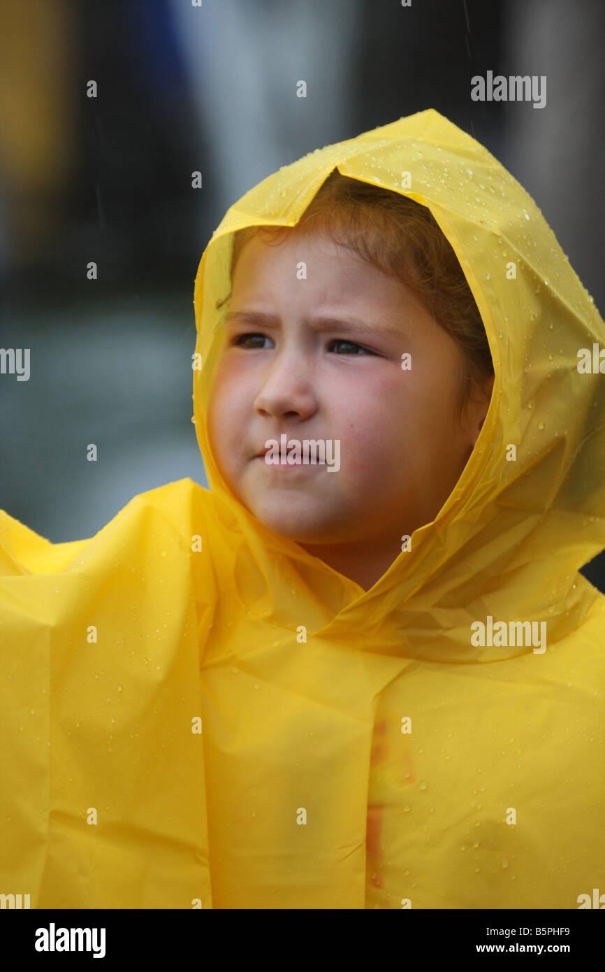 Veste jaune de pluie