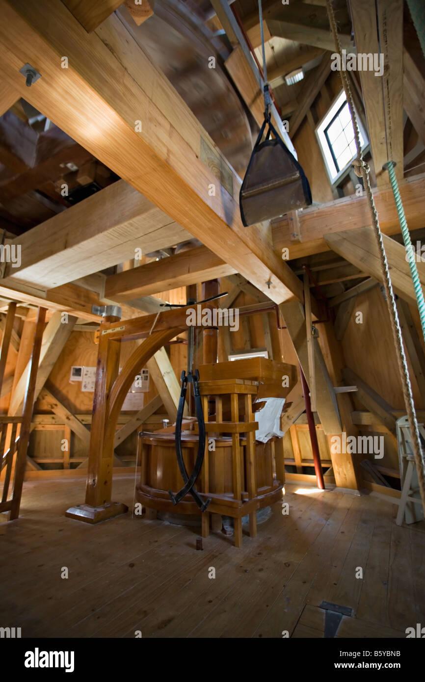 Moulin à vent qui fonctionne encore utilisé pour moudre le grain Foxton Manawatu Nouvelle-zélande Banque D'Images