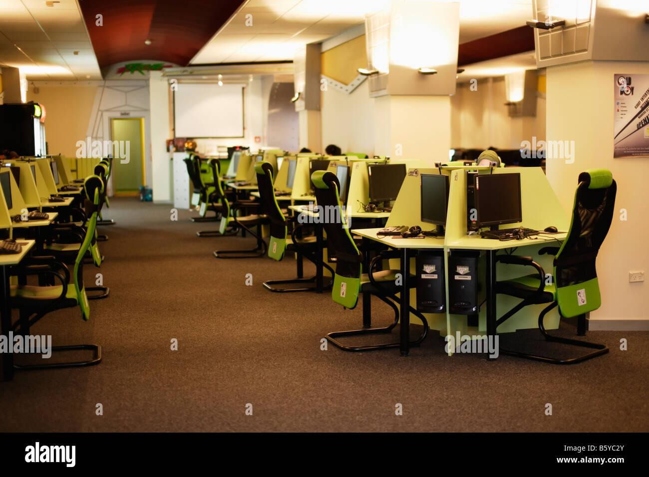 Internet Cafe Cuba Mall Wellington New Zealand Banque D'Images