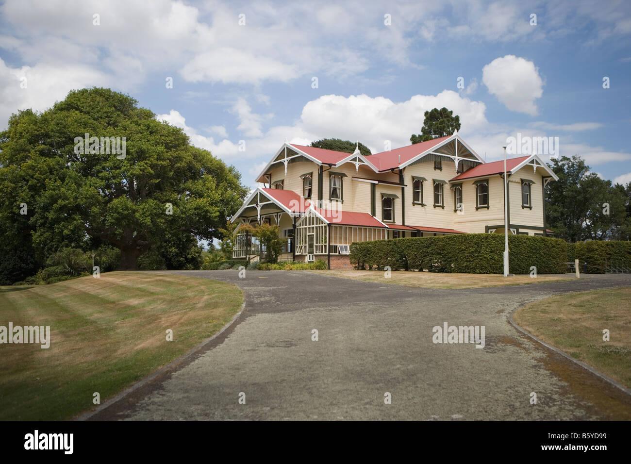Caccia chambre grand traditionnel accueil à Palmerston North Nouvelle Zélande maintenant disponibles à la location en fonction du lieu Banque D'Images