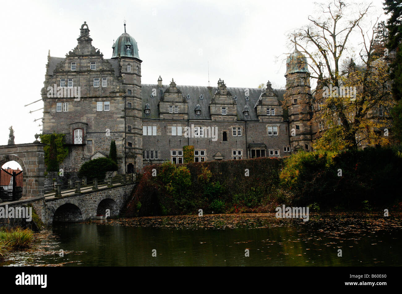 Haemelschenburg château, Basse-Saxe, Allemagne Banque D'Images