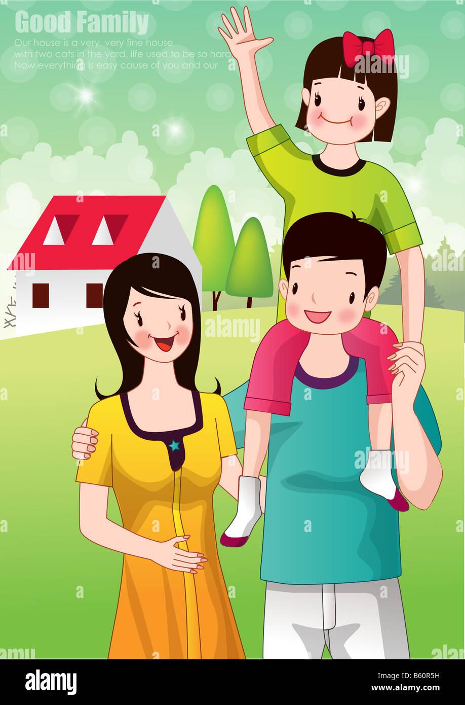 Les parents et l'enseignant Photo Stock