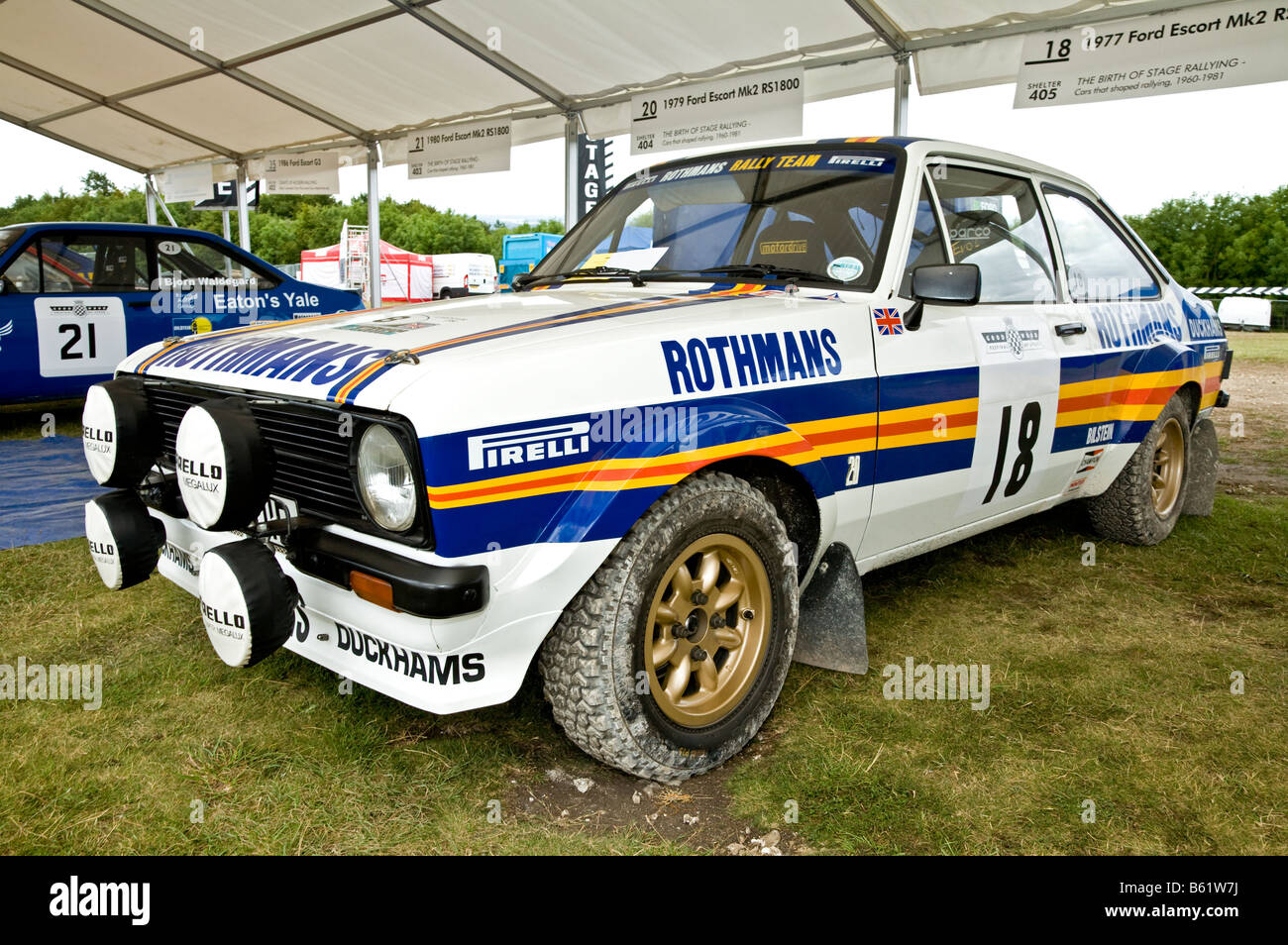 1977 ford escort mk2 rs1800 dans le paddock a goodwood festival of speed sussex