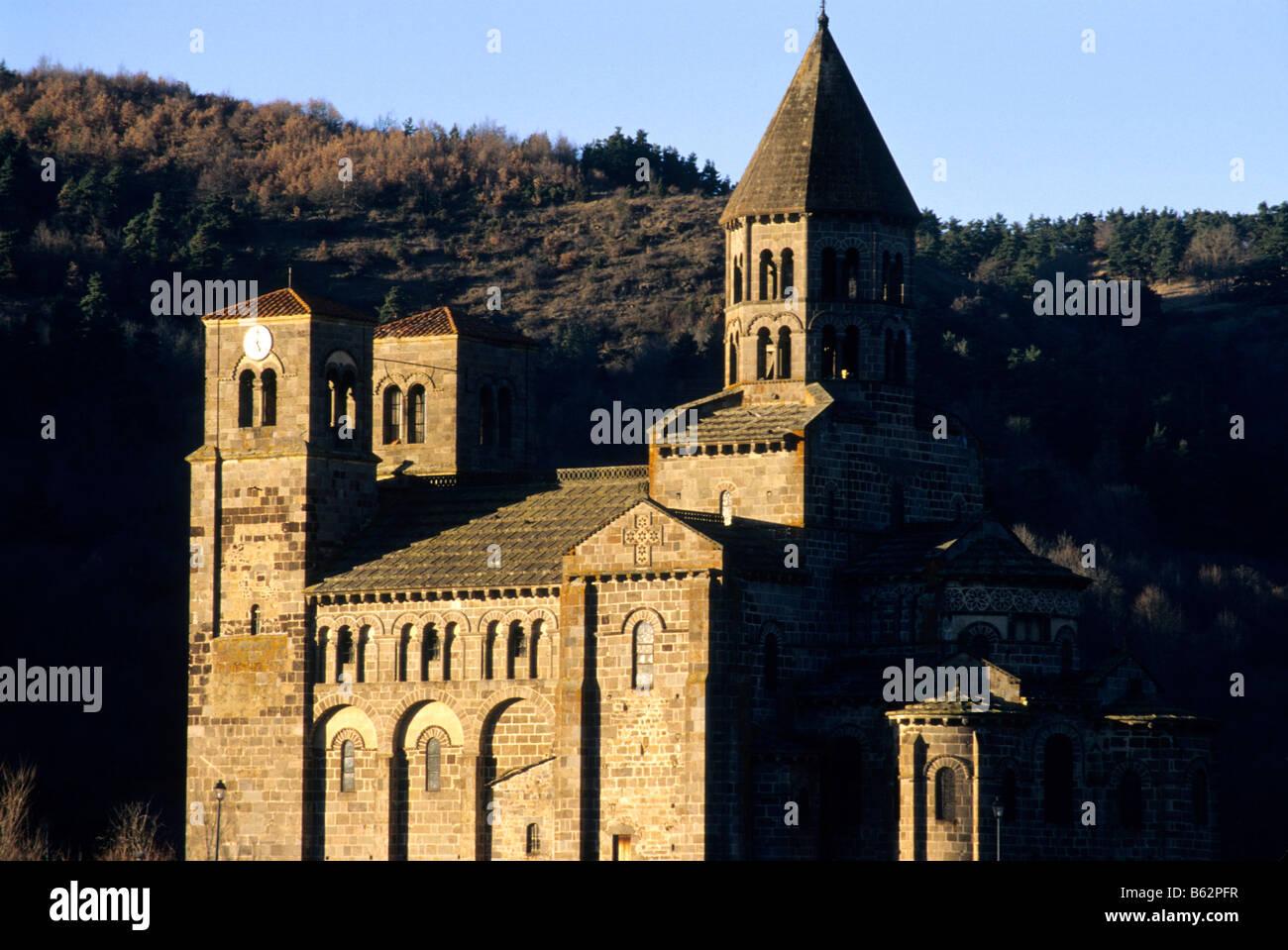 Eglise de Saint Nectaire . Puy de Dôme. L'Auvergne. France Banque D'Images