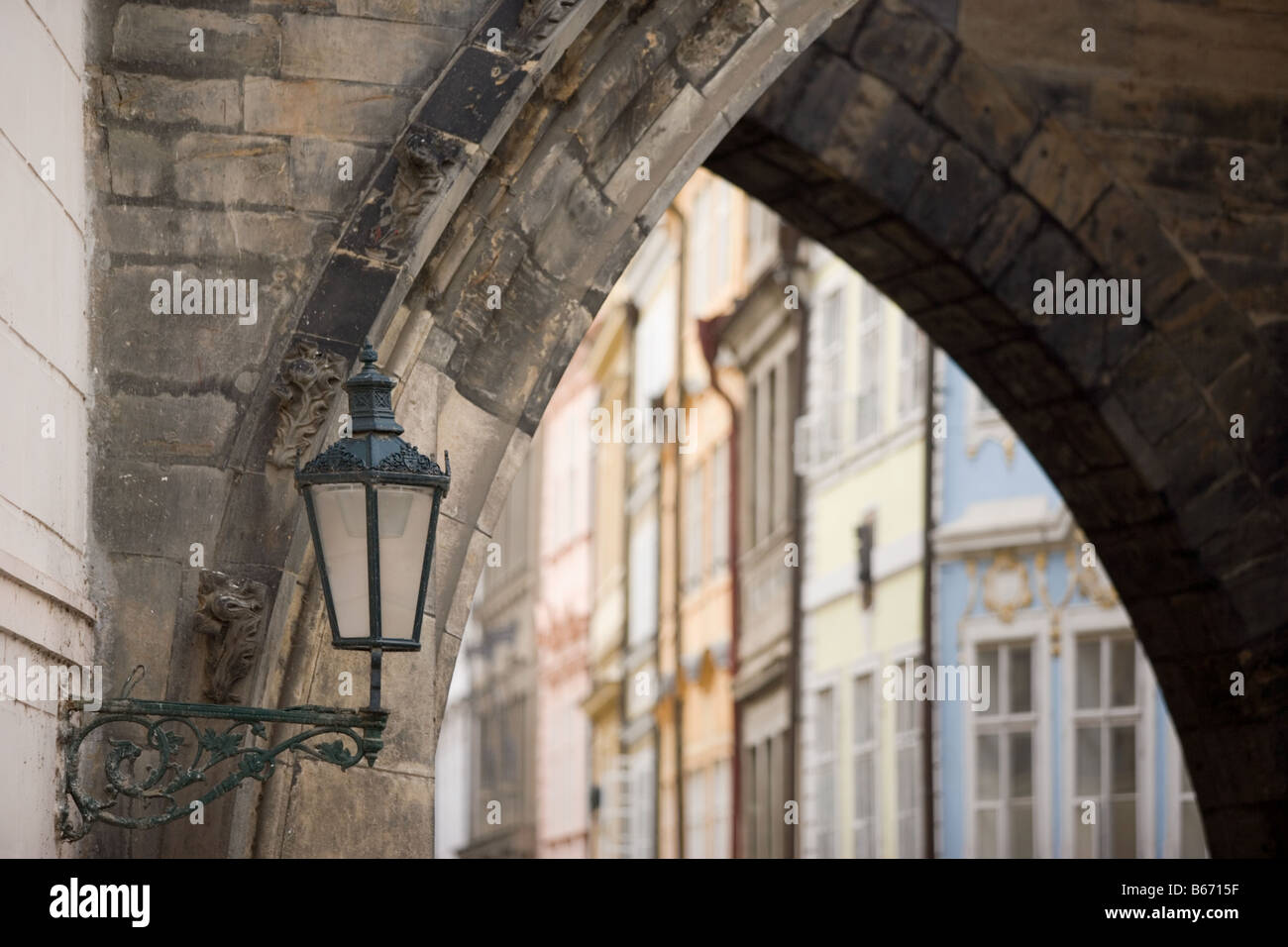 Les bâtiments de Prague Photo Stock