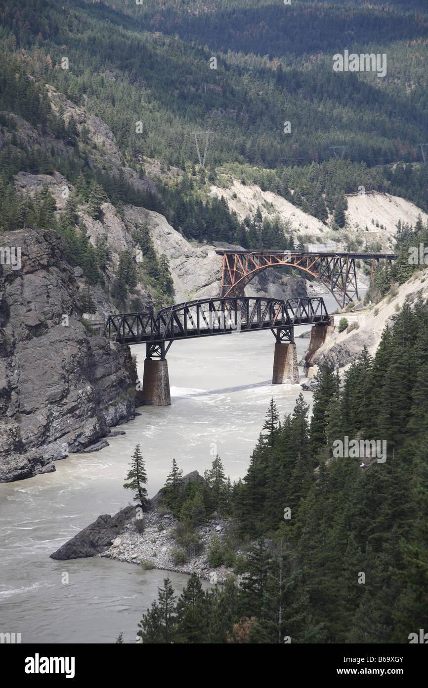Kanada Canada BC Britisch British Columbia Fraser entre Zwischen Hells Gate Route 1 et Lytton, Fraser Canyon Banque D'Images