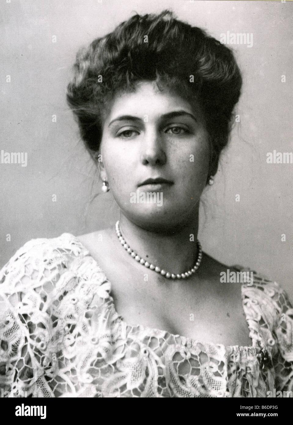 Eugénie VICTORIA DE BATTENBERG 1887 - 1969. Reine consort du roi Alphonse XIII d'Espagne et petite-fille Photo Stock