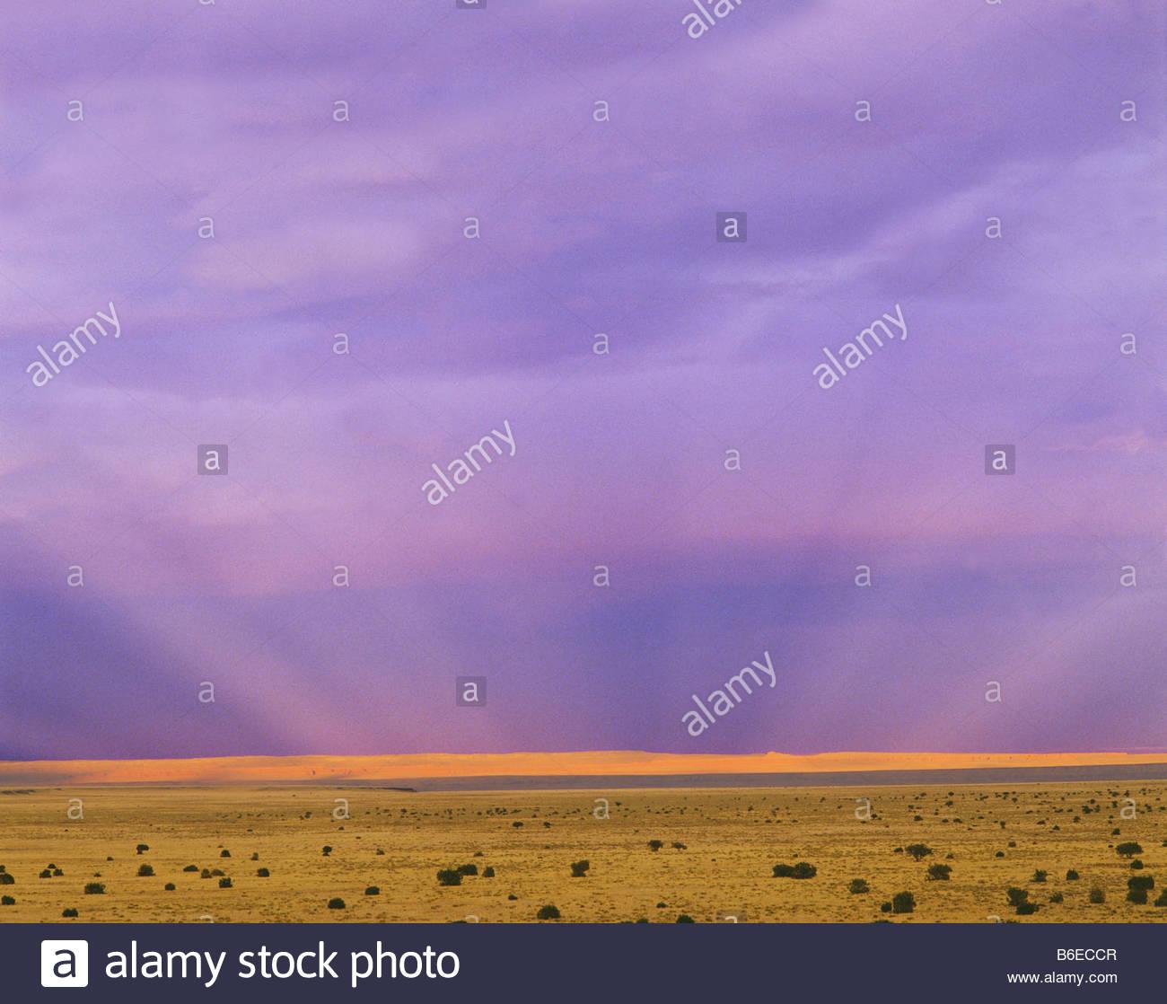 Vue de la réserve indienne Navajo désert peint de Wupatki National Monument Arizona Photo Stock