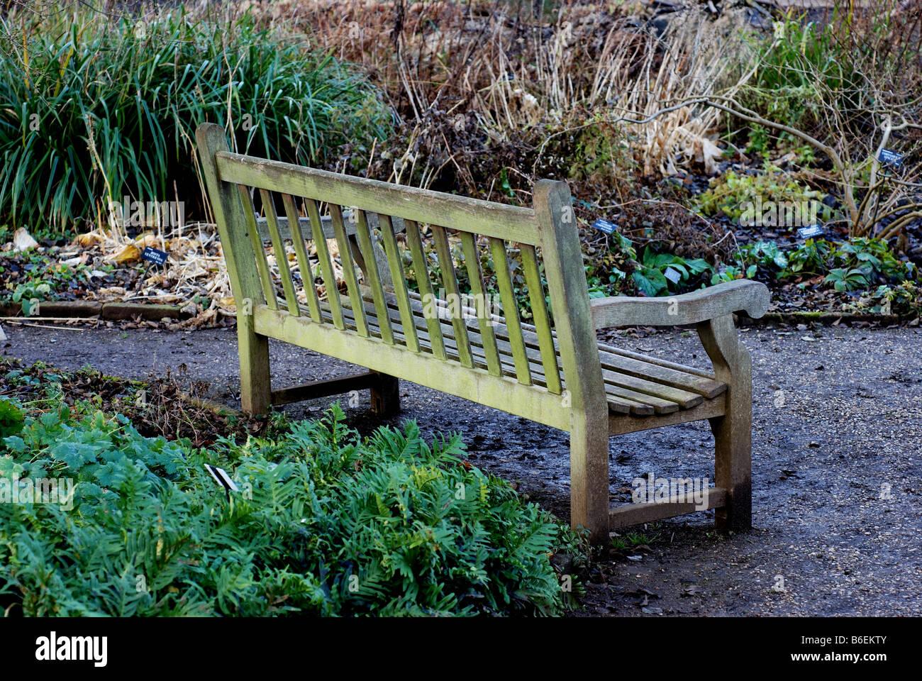 Du banc de Lyra dans le jardin botanique d\'Oxford, Oxfordshire ...