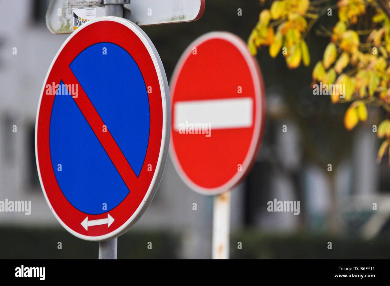 Signes de trafic Photo Stock