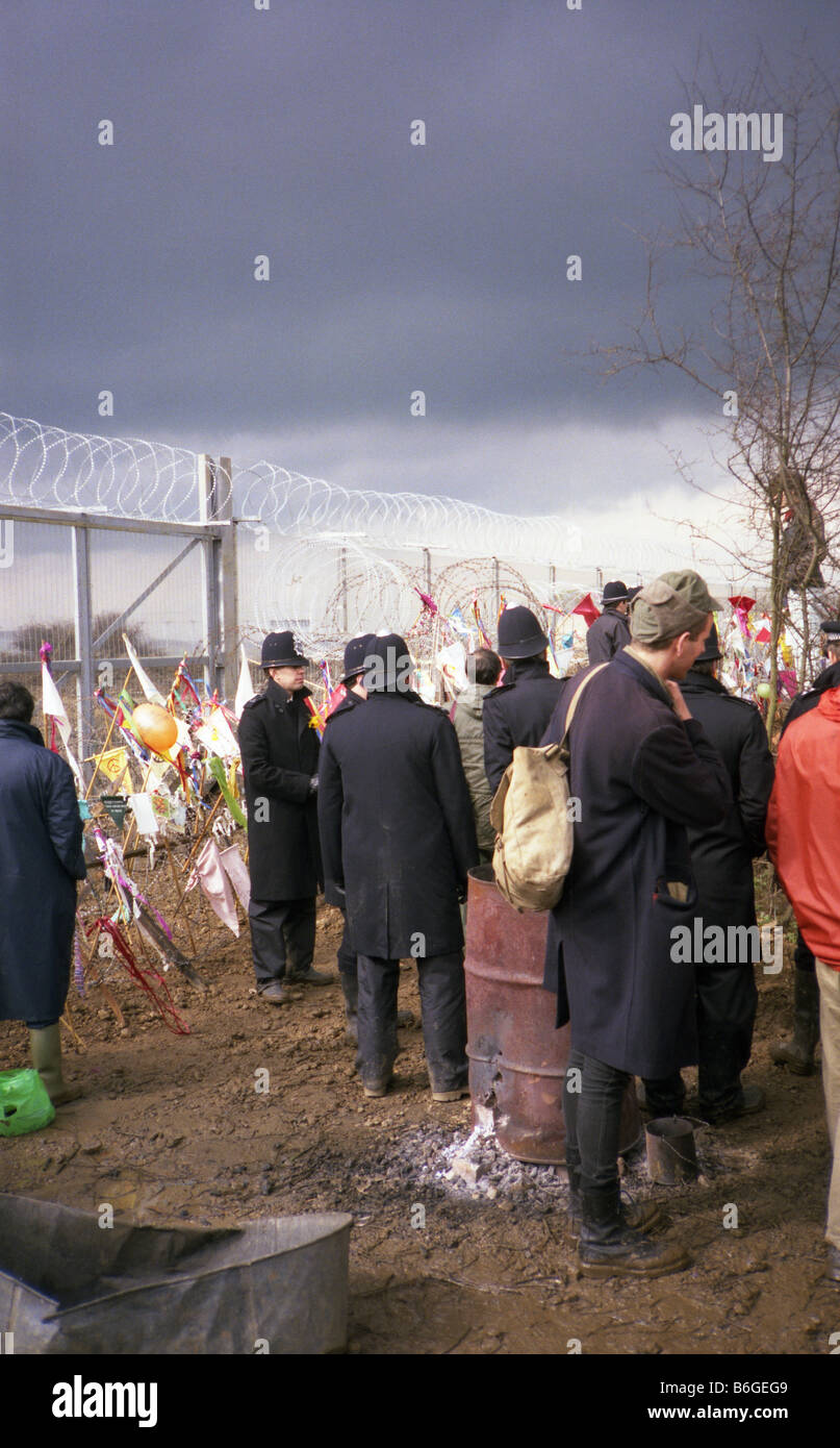 Greenham Common protester Banque D'Images