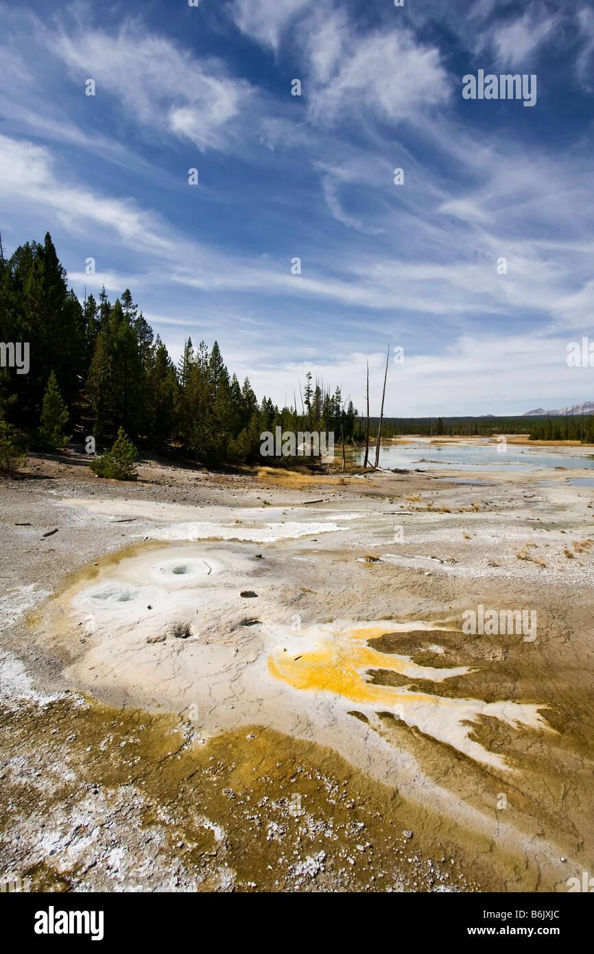 Lac de fissuration Photo Stock