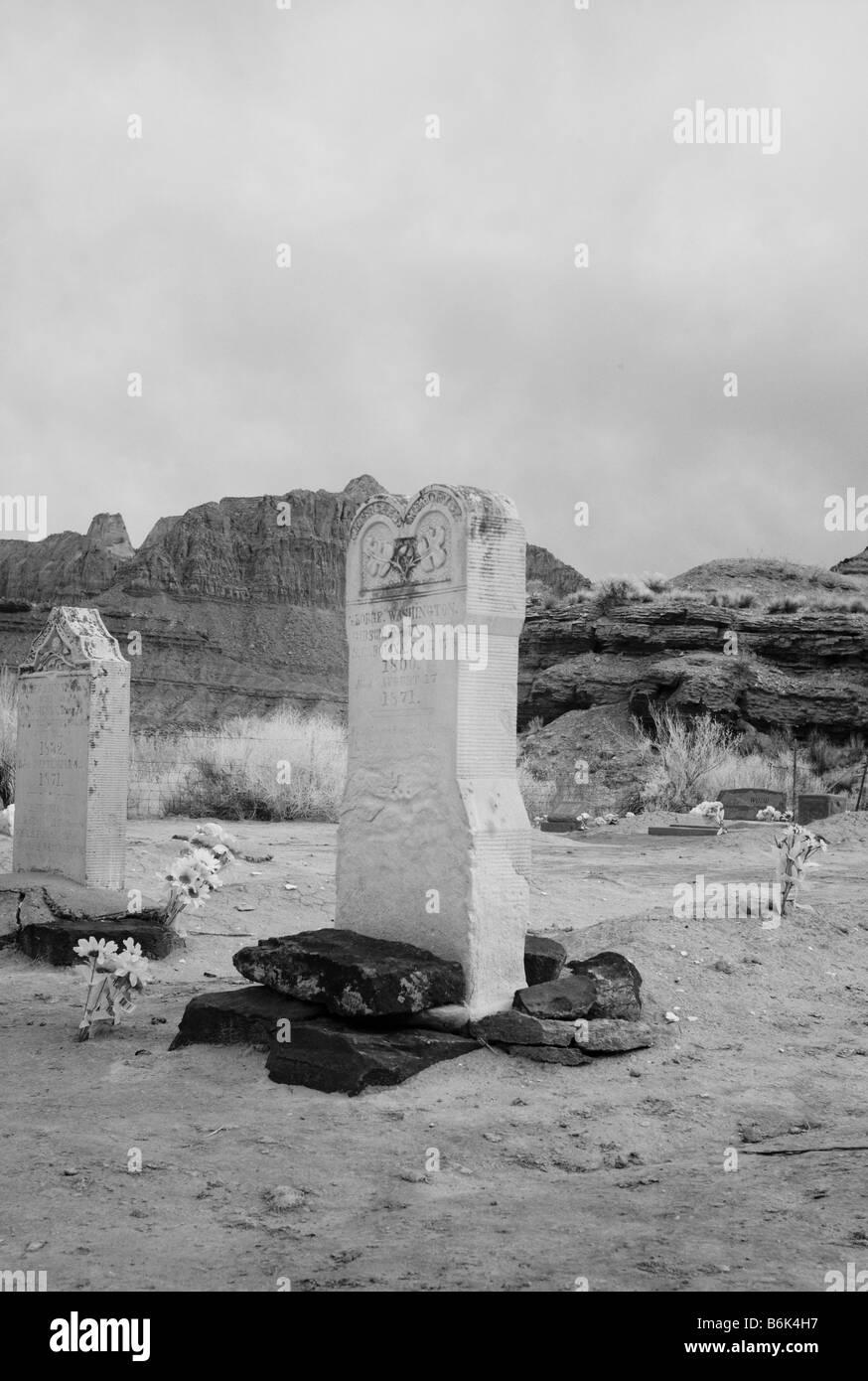 Cimetière Grafton Grafton Ghost Town Utah USA près de Zion National Park Banque D'Images
