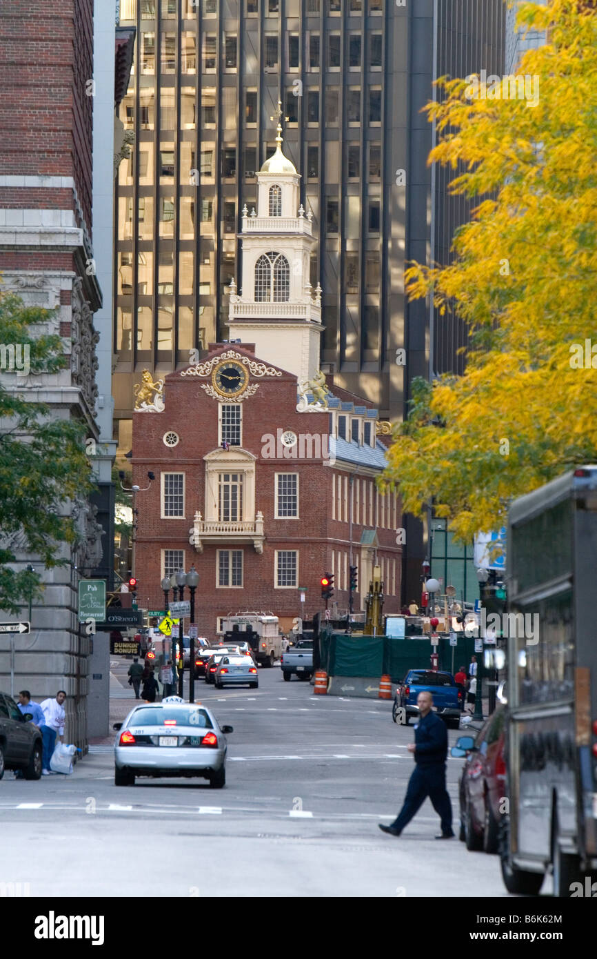 Le Old State House à Boston Massachusetts USA Photo Stock