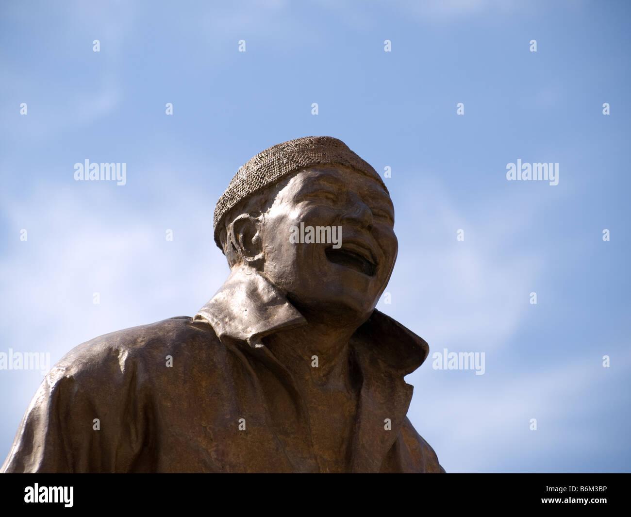 Une sculpture de Juan Muñoz, 'treize rire à chaque autre (2001)'. Photo Stock