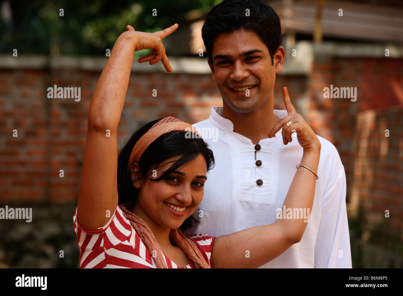 Indian boy and girl Photo Stock