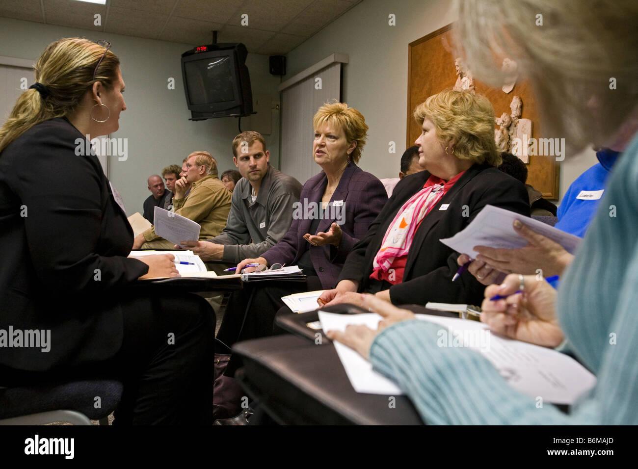 Eglise offre d'orientation professionnelle pour les chômeurs Photo Stock