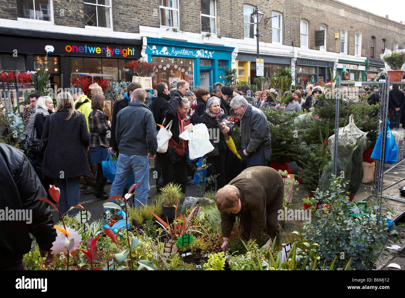COLUMBIA ROAD MARKET LONDRES EAST END Photo Stock