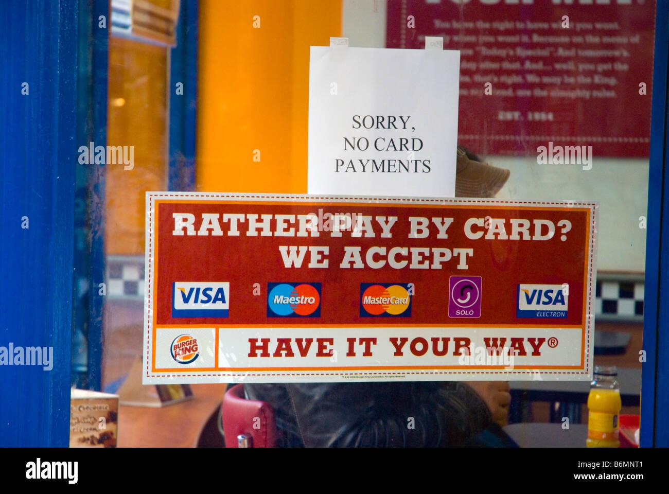 Carte Visa Angleterre.Les Paiements Par Carte De Credit Acceptes Et Non Acceptes Au Burger