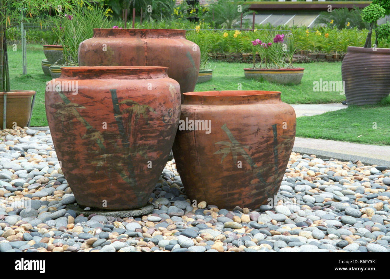 Gros Pots, Le Jardin d\'Hibiscus de Kuala Lumpur, Kuala Lumpur Banque ...