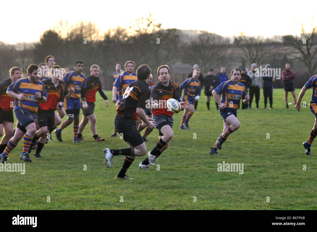 Au niveau des clubs de rugby, Leamington Spa, Angleterre, RU Photo Stock